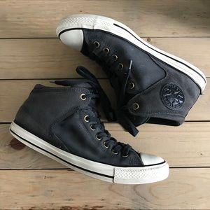 Grey Suede Converse High Tops